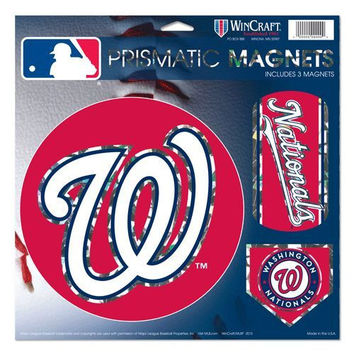 "Washington Nationals Magnets - 11""x11 Prismatic Sheet"