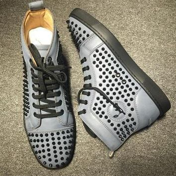 Cl Christian Louboutin Louis Spikes Style #1850 Sneakers Fashion Shoes
