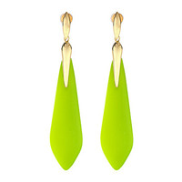 Alexis Bittar Crystal Embellished Marquis Drop Earrings Neon Yellow - Zappos.com Free Shipping BOTH Ways
