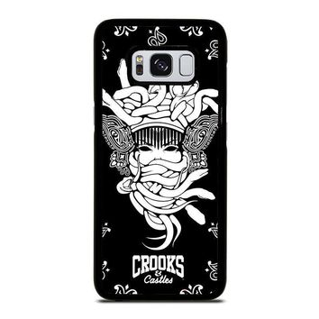 crooks and castles black white samsung galaxy s3 s4 s5 s6 s7 edge s8 plus note 3 4 5 8  number 2