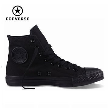 OTRENDY TOP QUALITY riginal Converse all star shoes men women's sneakers canvas shoes all black high classic Skateboarding Shoes - TMACHE