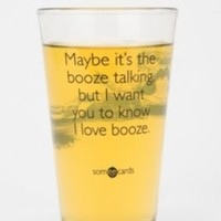 UrbanOutfitters.com > Booze Talking Pint Glass