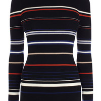 Clean stretch multi stripe jumper | Luxury Women's cleanlines | Karen Millen