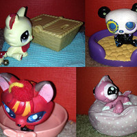 LPS Custom Littlest Pet Shop Painted Toys OOAK