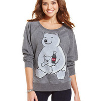 Awake Juniors' Top, Long Sleeve Graphic Sweatshirt