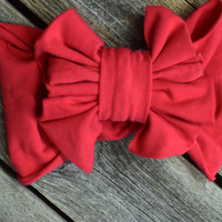 Headband by Mandy Lou {Bright Coral Red}