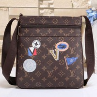 Louis Vuitton New Fashion Women Men Office Bag Leather Satchel Shoulder Bag Crossbody