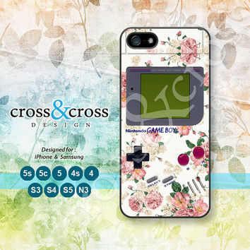 Rose, Floral, Gameboy, iPhone 5 case, iPhone 5C Case, iPhone 5S case, Phone cases, iPhone 4 Case, iPhone 4S Case, iPhone case, 0725