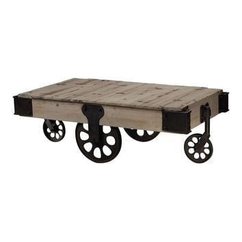 129-1002 Industrial Coffee Table - Free Shipping!