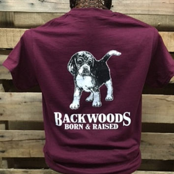 Backwoods Born & Raised Dog Puppy Beagle Bright Unisex T Shirt