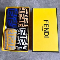 Fendi Men Fashion Casual Sport 100% Cotton Socks+Gift Box