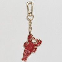 Skinnydip Red Lobster Enamel Keychain at asos.com
