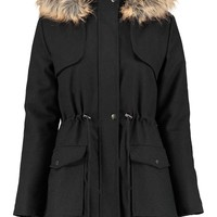 Lara Wool Mix Parka
