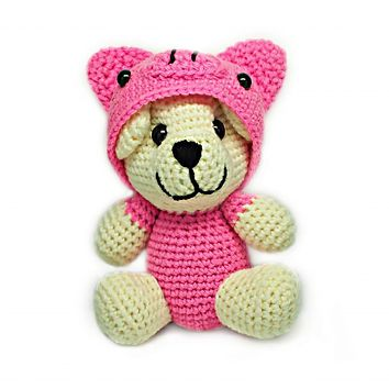 Avery Piggy Crochet Teddy Bear, Handmade Teddy Bears
