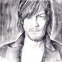 Daryl Dixon/Norman Reedus Drawing ~ The Walking Dead