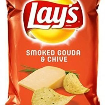 Lay's Smoked Gouda & Chive, 7.75 oz bag, (Pack of 2)