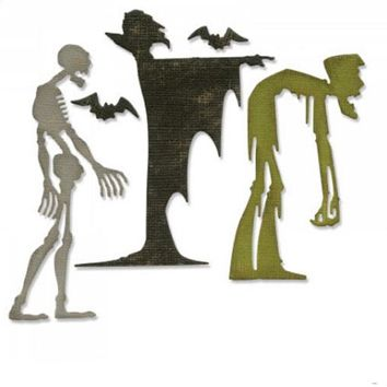 New Horror Zombie Halloween Series Craft Mold Metal Cutting Die For Scrapbooking/ Embossing Party Invitation Card Decoration