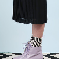 Round Toe Walker Boot Lilac