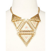 Geometric Panel Statement Necklace: Charlotte Russe