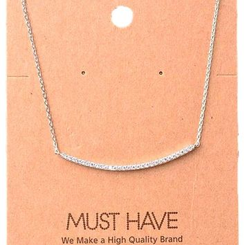Must Have-Classic Jewel Bar Necklace, Silver