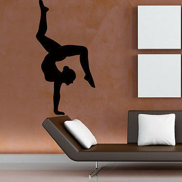 Wall Decals Vinyl Decal Sticker Sport Girl Gymnast Yoga Studio Gym Decor KG759