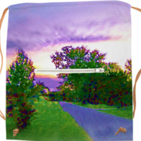 Purple Sunset Landscape created by Skylar | Print All Over Me