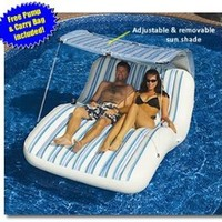 Amazon.com: Luxury Cabana Extra Large Lounger is Ideal for the Beach, Pool, Lake and Land!: Sports & Outdoors