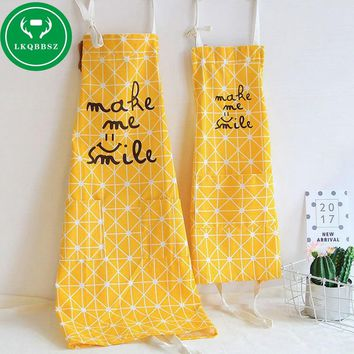 Cotton Kitchen Apron Kids Women Apron Funny Creative Printed Sexy Aprons Kitchen With Pocket Hand Towel