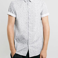 White Rope Print Smart Shirt - Men's Shirts - Clothing
