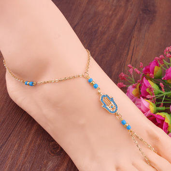 Cute Ladies Stylish Gift New Arrival Sexy Jewelry Shiny Vintage Diamonds Anklet [8527530375]