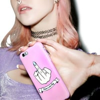 Local Heroes Middle Finger iPhone 6 Case Pink One