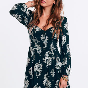 Whirlwind Romance Printed Dress