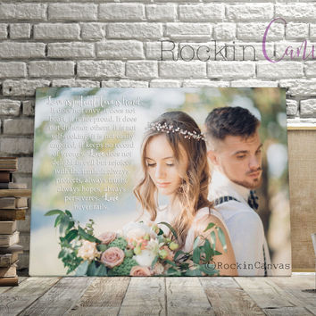 Song Lyric Art Custom Wedding Canvas Print