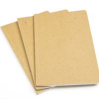 "ReWrite Chipboard 5""x 8"" Recycled Notebooks, Blank, 3 Pack"