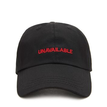 Unavailable Embroidered Dad Cap