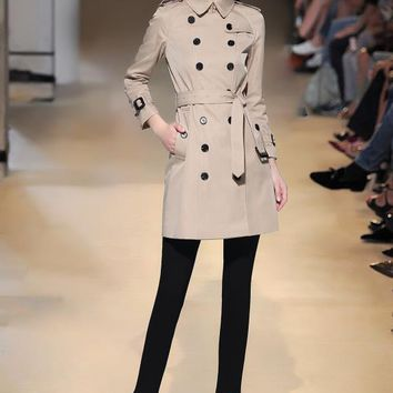 Burberry Women's long raglan sleeves trench coat