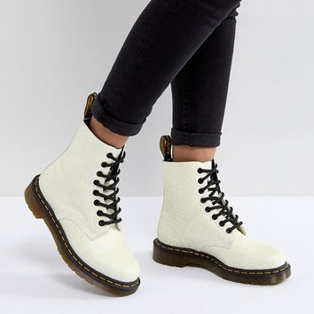 Dr Martens Pascal Boot in White Glitter at asos.com