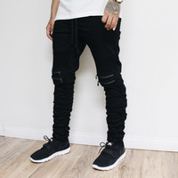 Jach Moto Stacked Pants (Black)