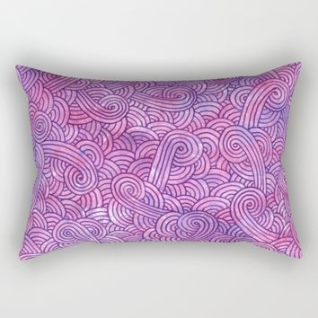 Pink and purple doodles Rectangular Pillow by Savousepate