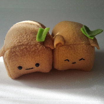 Lil' Tofu Pup Sushi Plush Dog by Cornstarch on Etsy