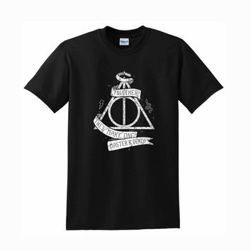 Harry Potter and the Deathly Hallows for women and man tshirt Unisex size S,M,L,XL,XXL,3XL