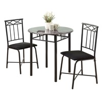 Grey Marble / Charcoal Metal 3Pcs Bistro Set
