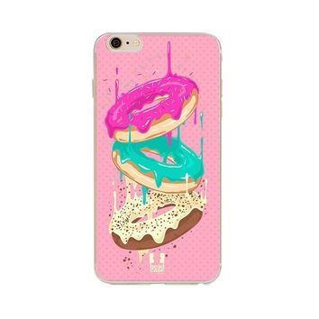 Donut Pop Art - Soft Shell Case for iPhone 6/6 Plus/7/7 Plus/8/8 Plus/X