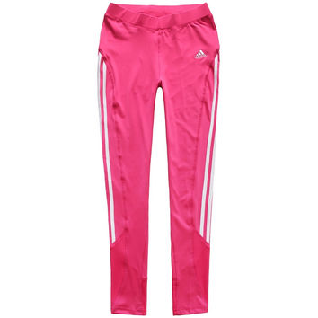 Adidas Woman Casual Gym Sport Yoga Embroidery Crisscross Print Pants Trousers Sweatpants