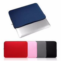 Portable Size Solid Color Soft Sleeve Laptop Bag Laptop Protective Notebook Case Cover With Zipper Suitable For Macbook