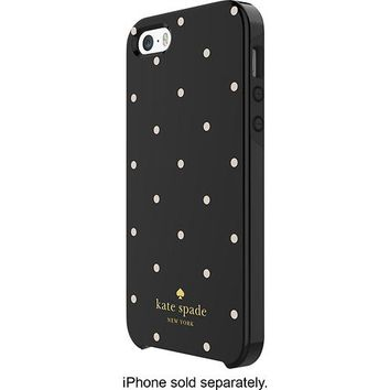 kate spade new york - Larabee Dot Hybrid Hard Shell Case for Apple® iPhone® 5 and 5s - Black/Cream