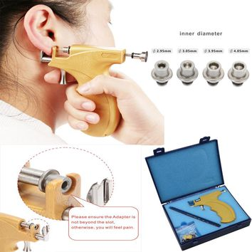 Professional Ear Piercing Gun Stainless Steel Safe Sterile Ear Nose Navel Body Piercing Gun Tool Kit Set For Good Packing