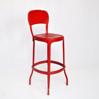 Vintage Red Cosco Stool