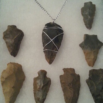 Authentic Native American Indian handcrafted Arrow Head Necklace Jewelry