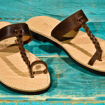 handmade sandals from genuine leather.